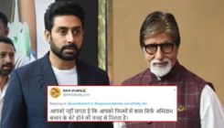 Abhishek Bachchan slays a troll with sarcasm who said he's working only because of his dad Amitabh Bachchan