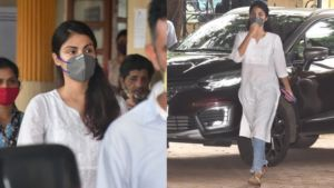 Rhea Chakraborty spotted for the first time after being released from jail- view pics