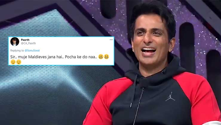 Sonu Sood wins the internet with his hilarious reply to a man who asked him to arrange for a Maldives vacation | Bollywood Bubble