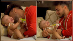 Salman Khan's niece Ayat playing with dad Aayush Sharma is the cutest thing you'll see today- watch video