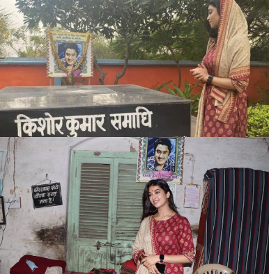 Digangana Suryavanshi pens an emotional note for Kishore Kumar as she visits the birthplace of the legendary singer