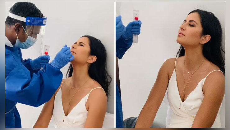Katrina Kaif gets mighty worried undergoing Covid-19 test; her reaction video is PRICELESS