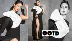 Hina Khan rocks the ultimate retro look in her black and white outfit - view pics
