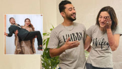 Gauahar Khan picks hubby Zaid Darbar in her arms; gives new meaning to 'in weakness and in strength'