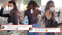 Manushi Chhillar gets trolled as she forgets to remove her t-shirt's price tag; netizens ask,