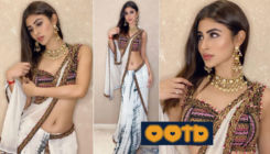 Mouni Roy flashes fashionable desi vibes in a super-hot white modernised saree - view pics