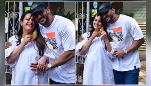 Mom-to-be Anita Hassanandani and Rohit Reddy are all smiles as they are snapped-view pics