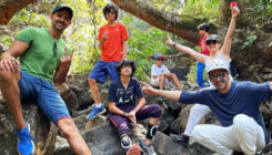 Hrithik Roshan goes for a trek with kids and ex-brother-in-law Zayed Khan; see pic
