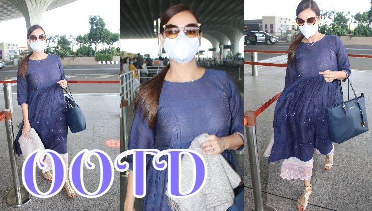 Dia Mirza spotted for the first time after her marriage; looks beautiful in her casual best