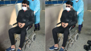 Wheelchair-bound Kapil Sharma snapped at the airport; fans express concern over his health