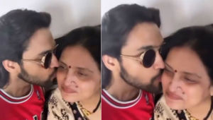 Parth Samthaan showers his mother with a barrage of kisses and it is beyond adorable; Watch Video