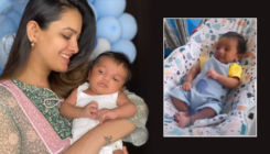 Anita Hassanandani feels good with the extra kilos as she shares an adorable PIC with 1 month old Aaravv Reddy