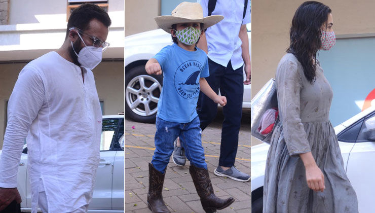 Taimur Ali Khan wins the internet with his cowboy antics while being spotted with Saif and Sara Ali Khan; view pics