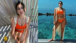Sara Ali Khan gets her dose of vitamin sea in a sexy orange bikini; view pics