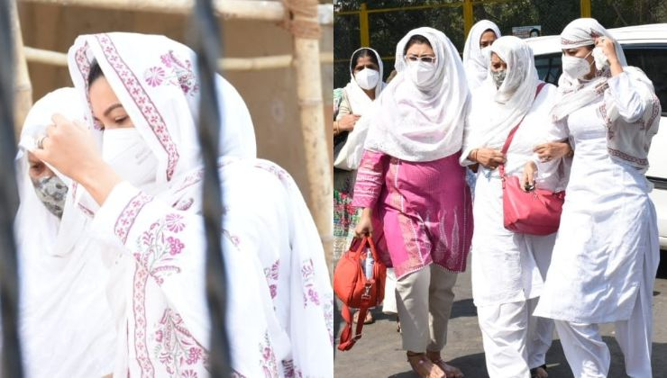 Gauahar Khan and her family arrive for her father's last rites; view pics