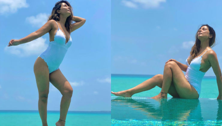 Hina Khan is the 'hottest beach babe' in a monokini as she enjoys her Maldives vacay with BF Rocky; See PICS