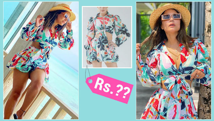 Hina Khan's sizzling floral co-ord set will cost you THIS much