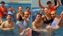 Neha Kakkar and Rohanpreet Singh have a family pool party for their Pre-Holi celebrations; watch video