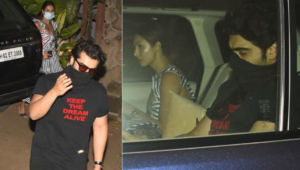 Lovebirds Malaika Arora and Arjun Kapoor visit Kareena Kapoor and Saif Ali Khan to meet their newborn; view pics