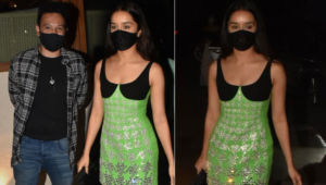 Amid wedding rumours, Shraddha Kapoor stuns in a shimmery lime dress at rumoured BF Rohan Shrestha's birthday bash