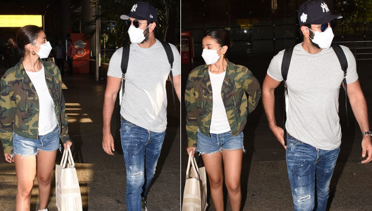 Alia Bhatt and Ranbir Kapoor keep it super casual as they return from the Maldives; view pics