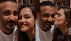Anita Hassanandani receives a sweet birthday kiss from hubby Rohit Reddy; Check out her cute celebration VIDEO