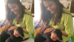 Anita Hassanandani drops a cute VIDEO of baby boy Aaravv Reddy playing on her lap; Hina Khan loves it