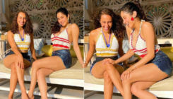 Janhvi Kapoor has a hearty laugh with her friend as she soaks in the sun; view pics
