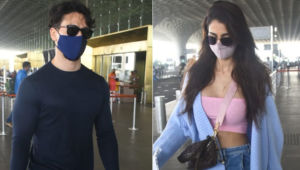 Tiger Shroff and Disha Patani spotted at the city airport as they jet off for a vacation; view pics
