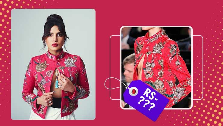 Priyanka Chopra's hot pink embroidered jacket by Pertegaz comes at a whopping price!