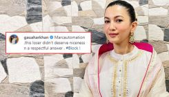 Gauahar Khan SLAMS and blocks a troll who wrote 'women are always at man's feet' on her VIDEO with Zaid Darbar