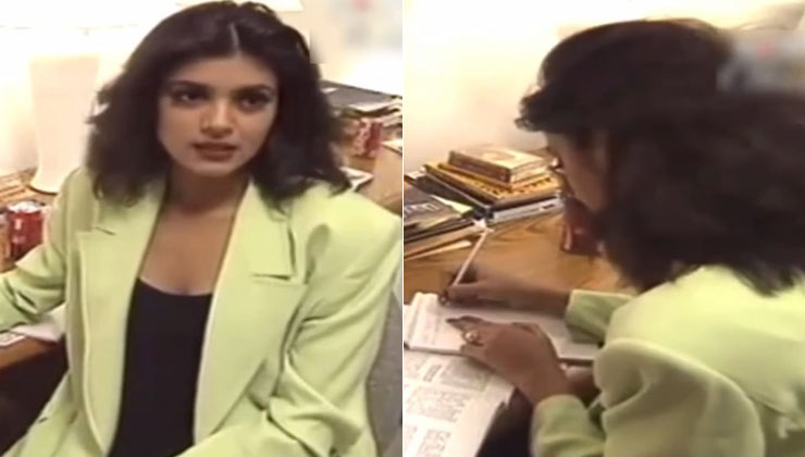 Throwback clip of Sushmita Sen prepping for her UN speech at 18 goes viral; watch video