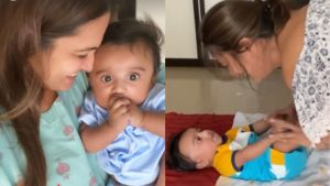 Anita Hassanandani is in awe of son Aaravv; Tells hubby Rohit Reddy 'Still don't believe we created this cutie'