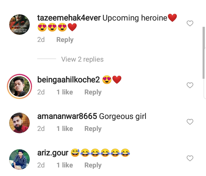 fans comment on harshaali malhotra's video