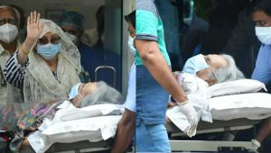 FIRST pics of Dilip Kumar's discharge from hospital after being admitted due to breathlessness