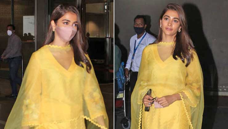 Pooja Hegde sparks bright in yellow as she returns after wrapping up Vijay's Beast Chennai schedule; view pics