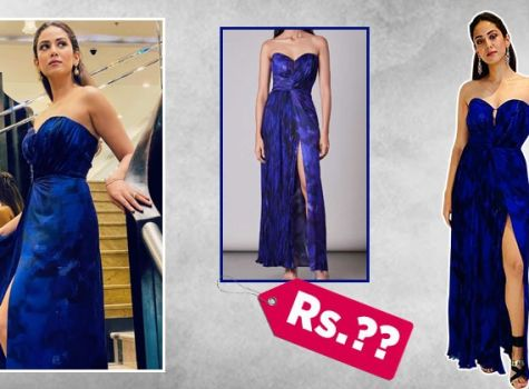 Mira Rajput exudes class in a thigh-slit strapless dress butthe worth is equally classy; here's how much it costs